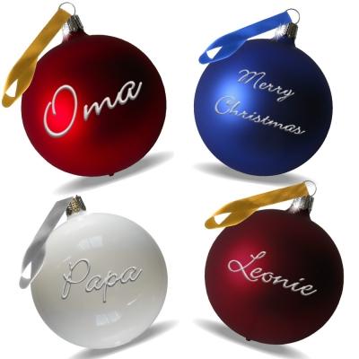 Familienset 4 Weihnachtskugeln